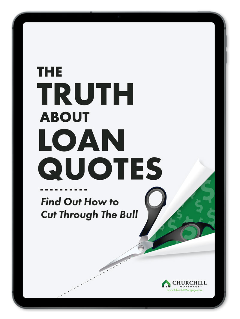 black ipad with ebook cover The Truth About Loan Quotes